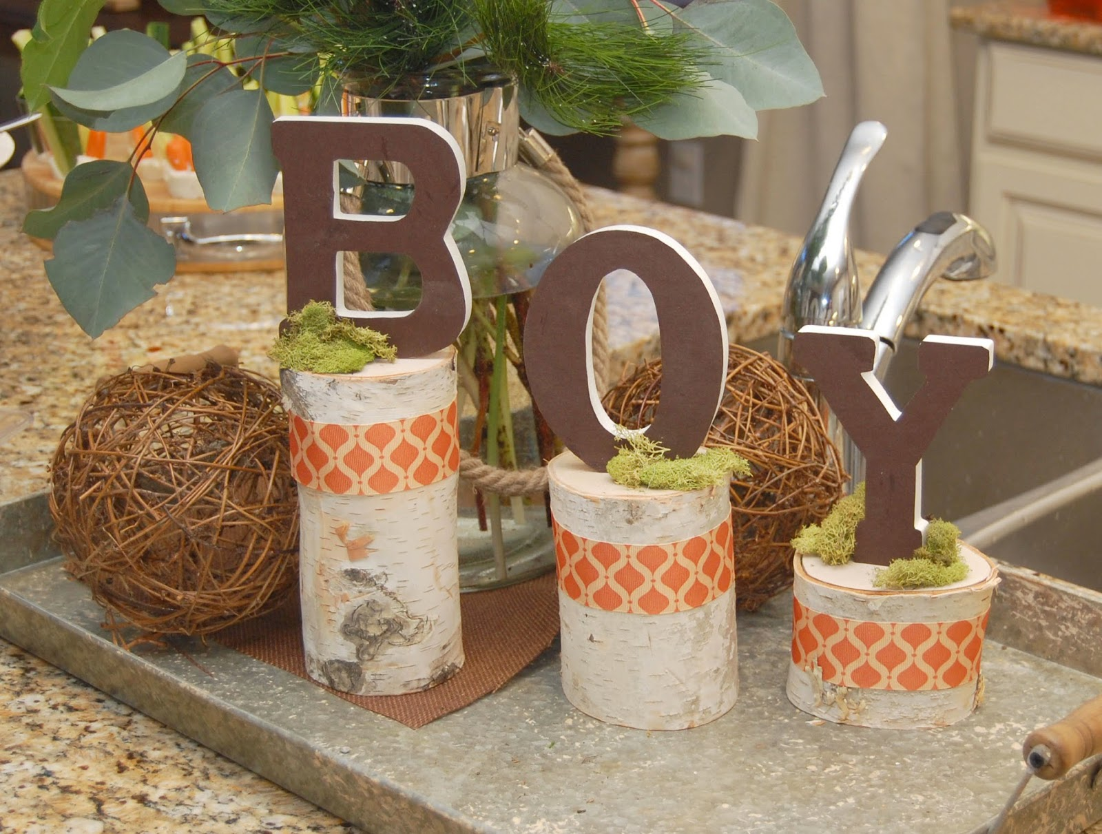 Woodland Baby Shower Birch Logs