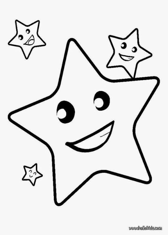 Star Coloring Pages Free Large Images