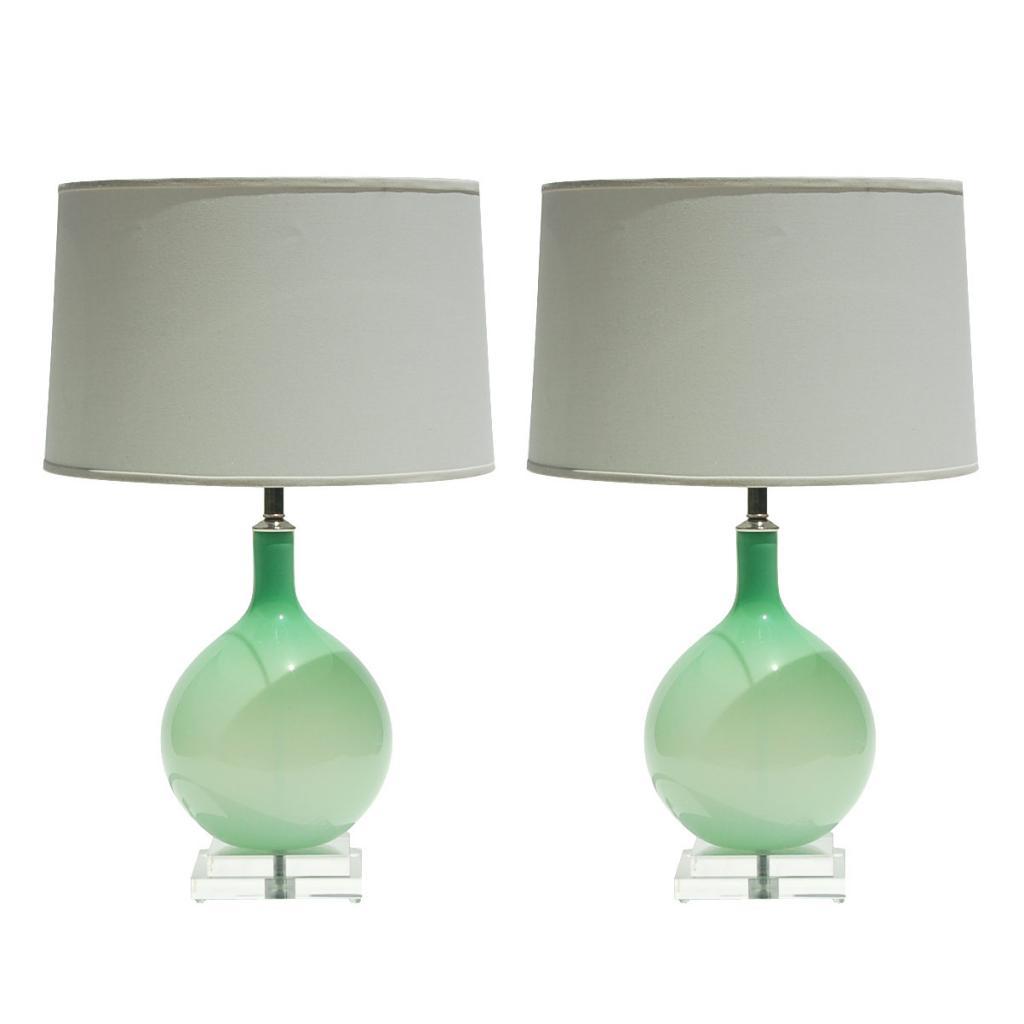murano glass lamps verdigris vie. Black Bedroom Furniture Sets. Home Design Ideas