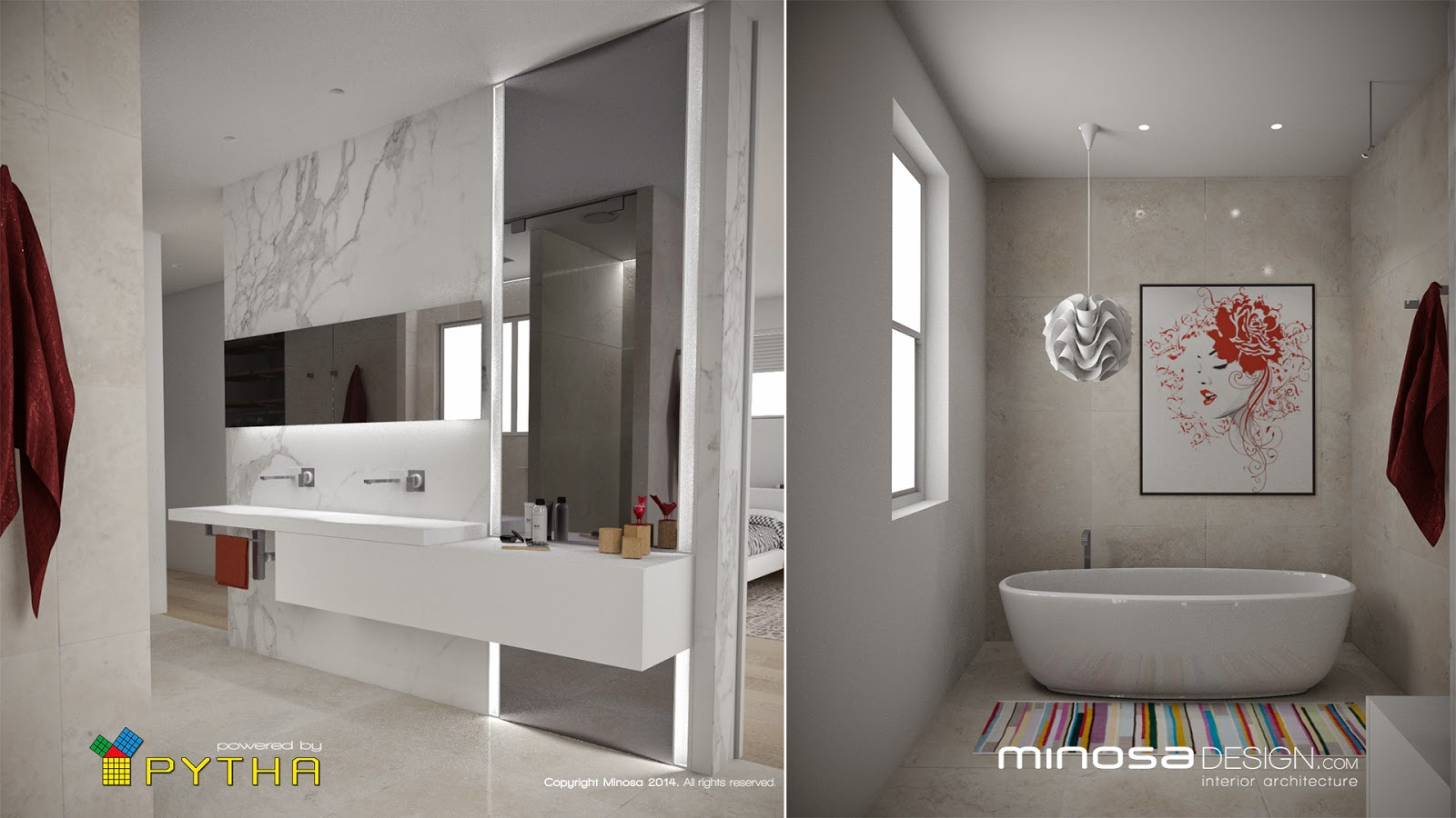 Sample Bathroom Designs Minosa 3D Rendering