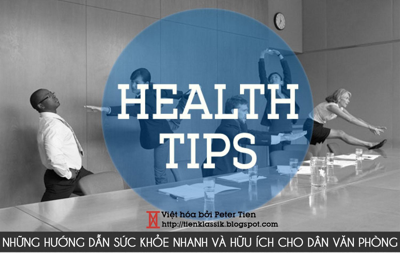 [Infographic] Vài mẹo nhanh chăm sóc sức khỏe dân văn phòng