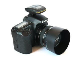 Canon EOS 30D med Bilora Geo Tagger monterad