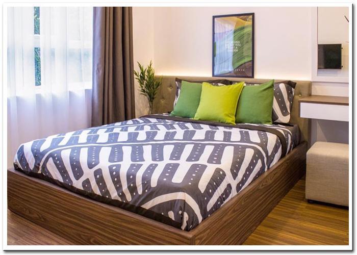 Phòng ngủ căn hộ mẫu sài gòn Mia