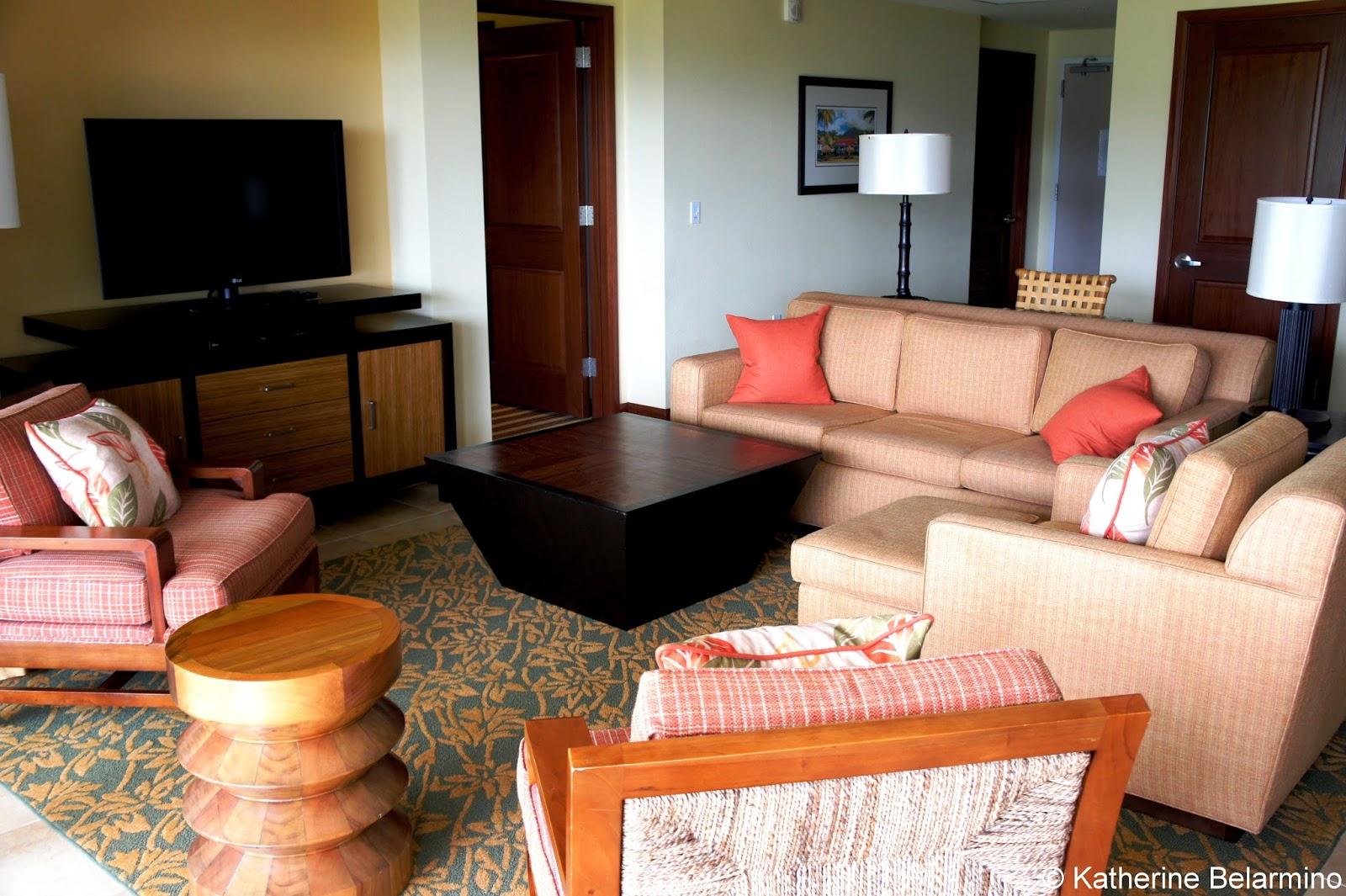 Marriotts Kauai Lagoons Living Room Hawaii