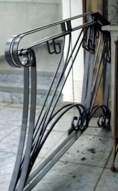 Detalhe de entrada para escada de varanda ..