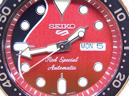 SEIKO 5 SPORTS RED SPECIAL LEGENDARY GUITAR BRIAN MAY - SEIKO SRPE83K1 - AUTOMATIC 4R36 - LIMITED