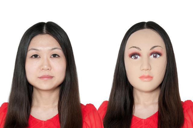 mascara de beleza, linda, uniface mask, chines, Zhuoying Li, cirurgia plastica, wtf, maquiagem, gente, risos, bizarro, eu adoro morar na internet