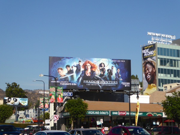 Shadowhunters Mortal Instruments series billboard