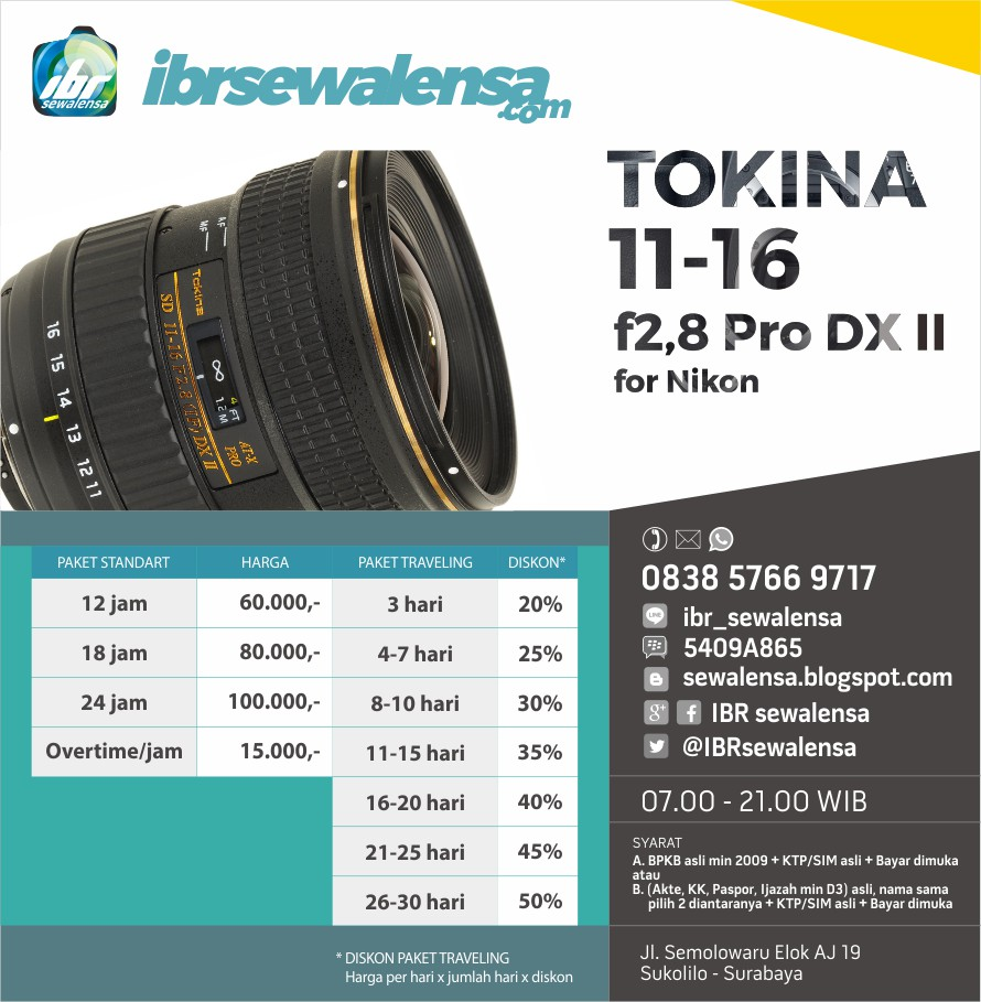 TOKINA 11-16 f2,8 IF DX II for NIKON
