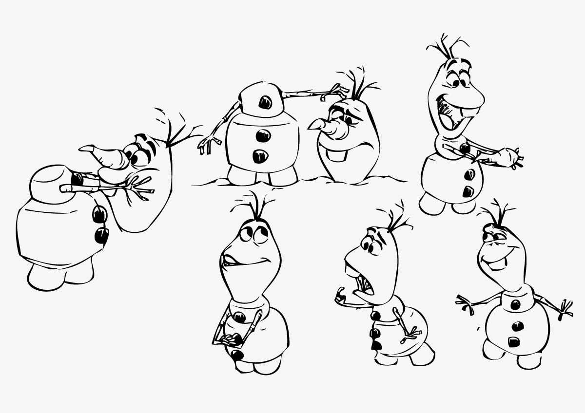 Frozen Coloring Pages Olaf Instant Knowledge