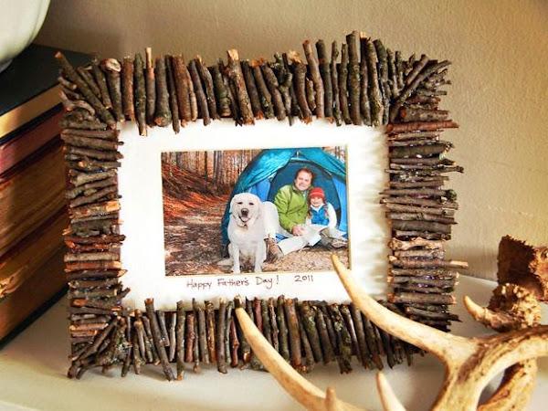 """Vía pinterestIdeas """"Marcos para Fotos"""" con maderapara el Reto"""