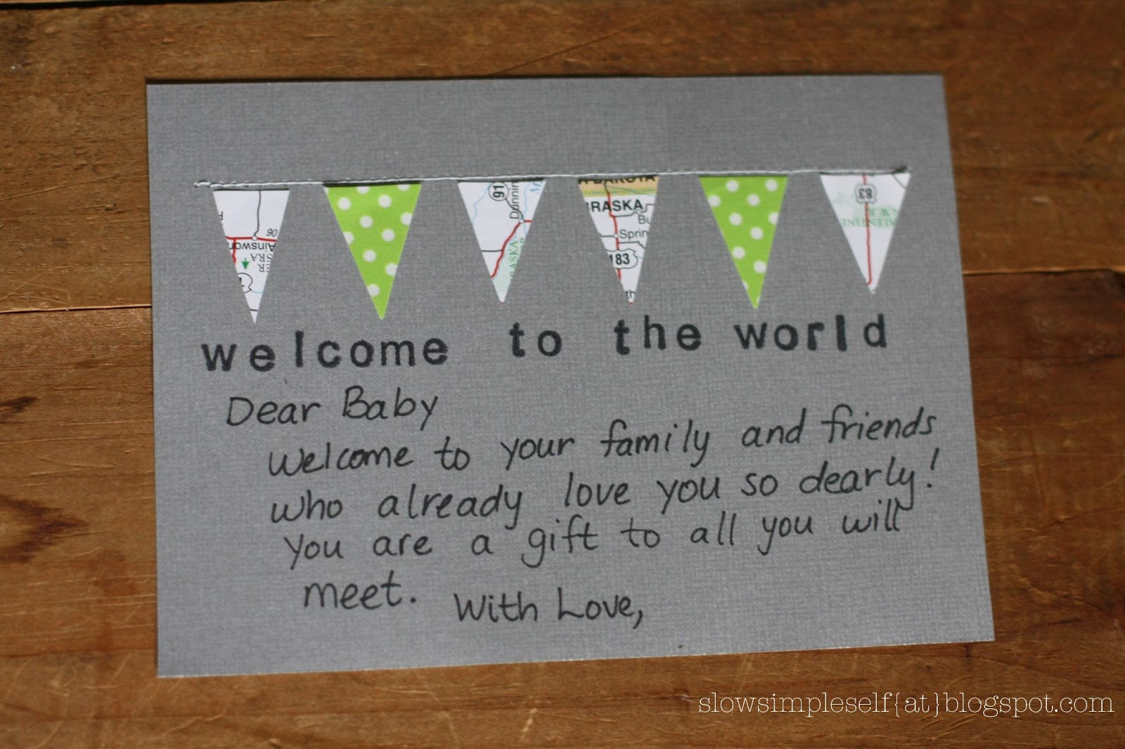 Slow Simple Self Creative Connections Welcome Baby Greeting Card