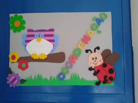 Decoração porta de sala com coruja