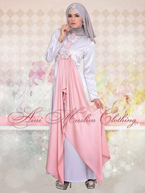 model baju gaun muslimah