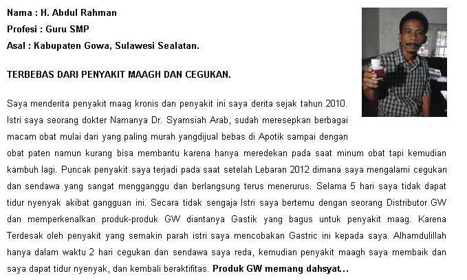 testimoni H. abdul rahman