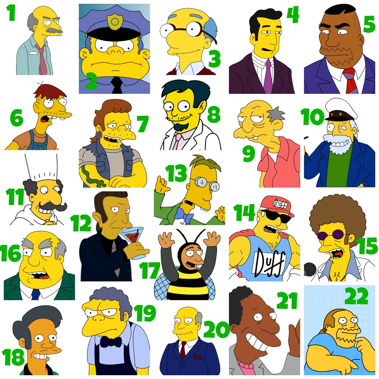 Simpsons characters and pictures Every Simpsons character, identified - Simpson Crazy