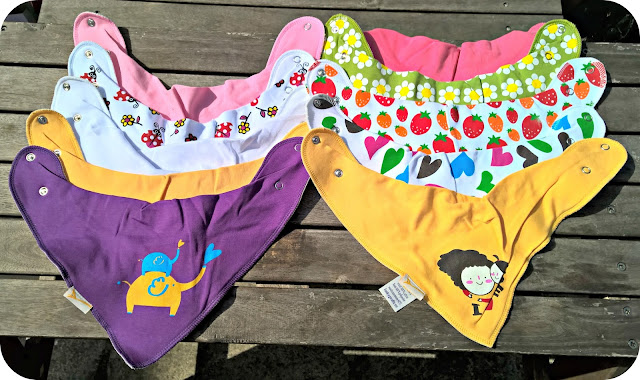 Funky Bibs from Funky Giraffe - Review and Giveaway Bandanas