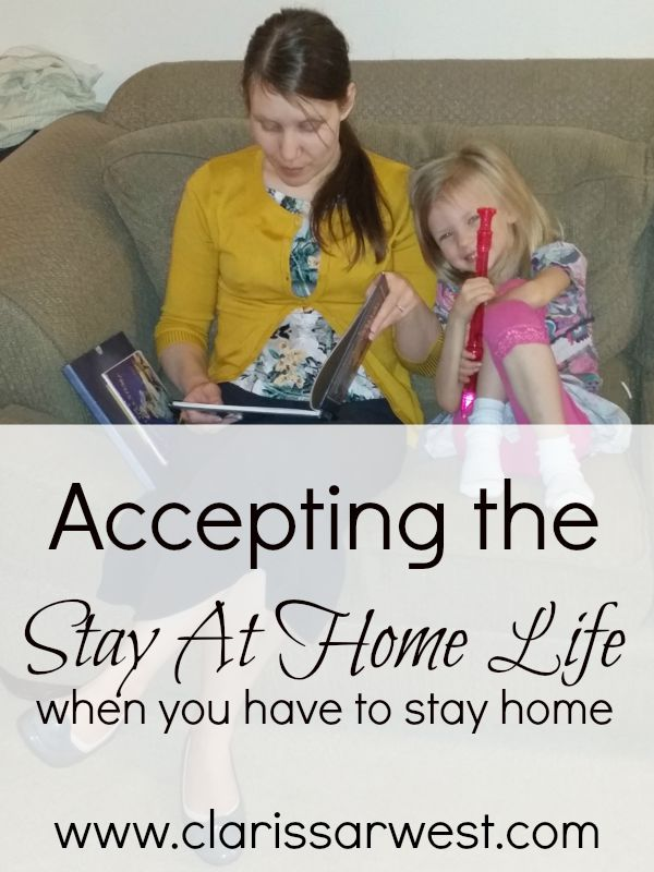 Accepting the stay at home life when you are forced to stay home