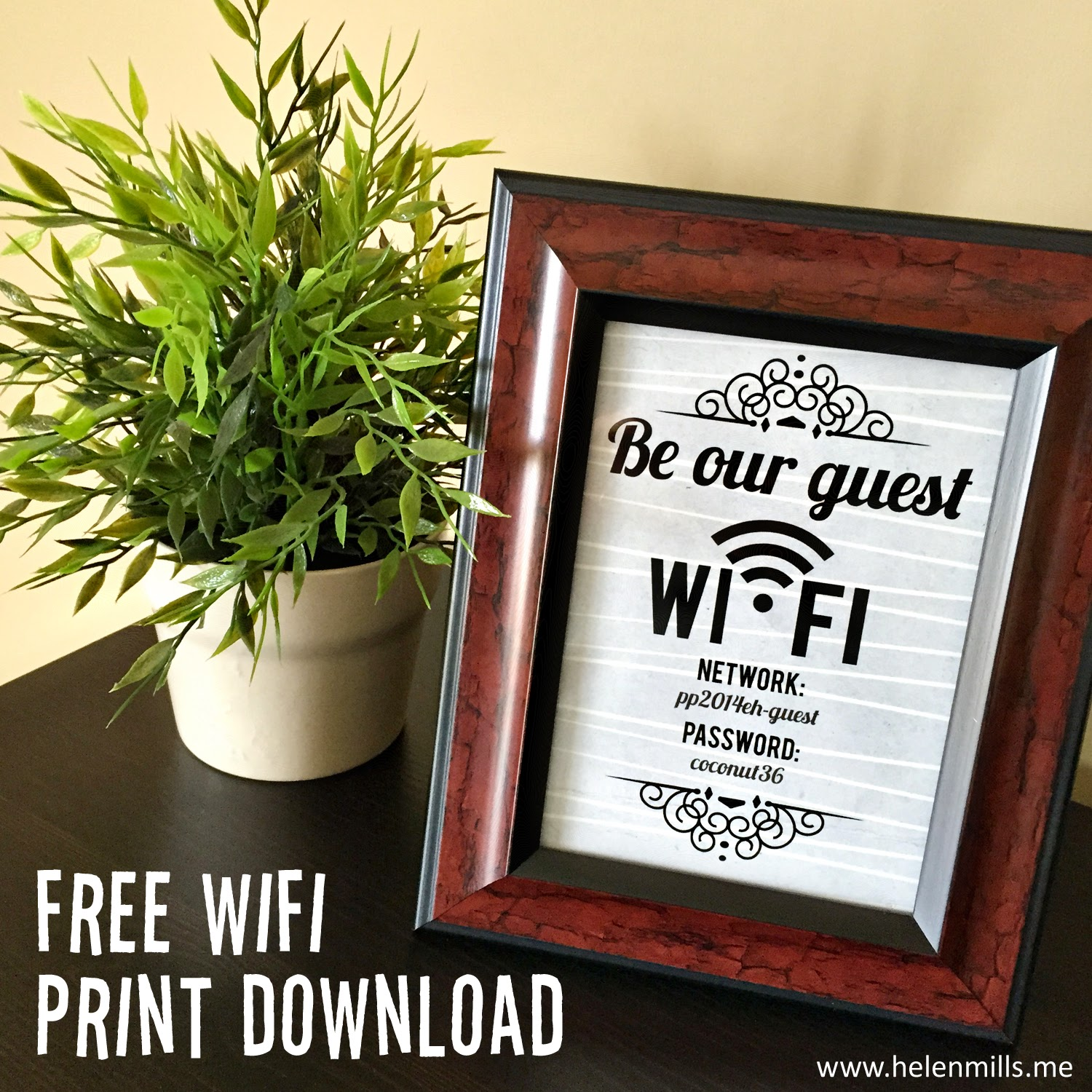 what happened next guest wifi print download. Black Bedroom Furniture Sets. Home Design Ideas