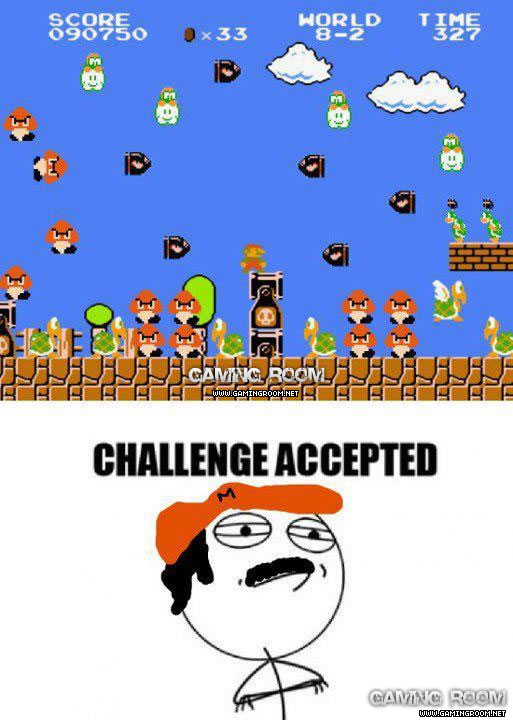 Mario encarando a treta