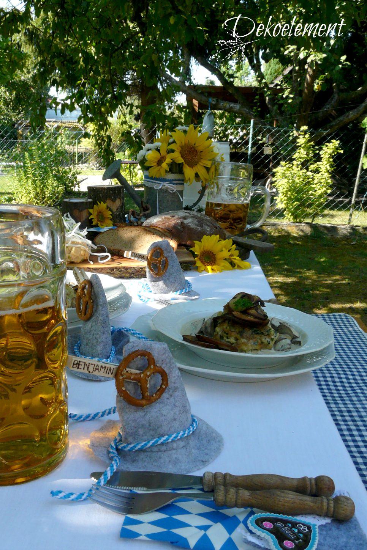 Dekoelement: Bayrisch, rustikale Tischdekoration