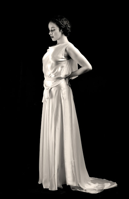 Jean Harlow satin dress by Alexandra King