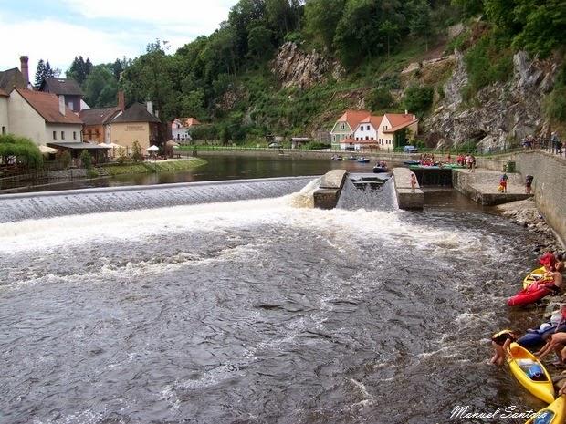 Cesky Krumlov, fiume Moldova