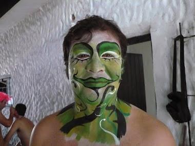 Cono Suárez, una de las caripelas de la murga
