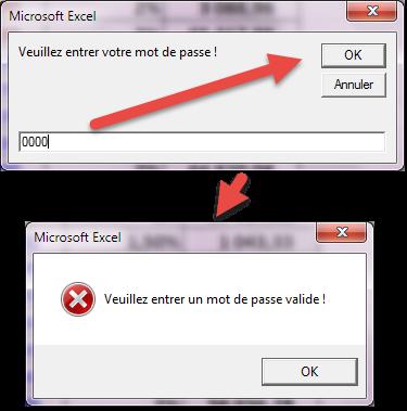 Message Mot de passe