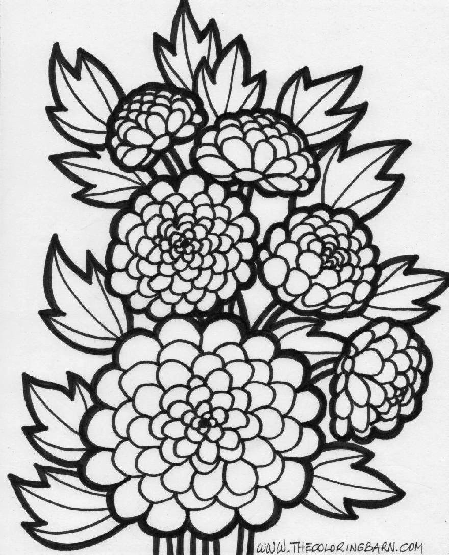 Flower coloring sheets free coloring sheet for Coloring pages of a flower