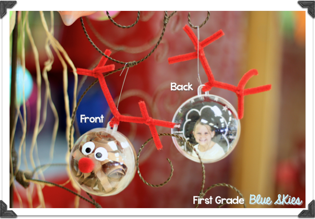 Classroom Ornament Crafts ~ First grade blue skies christmas crafts in the classroom
