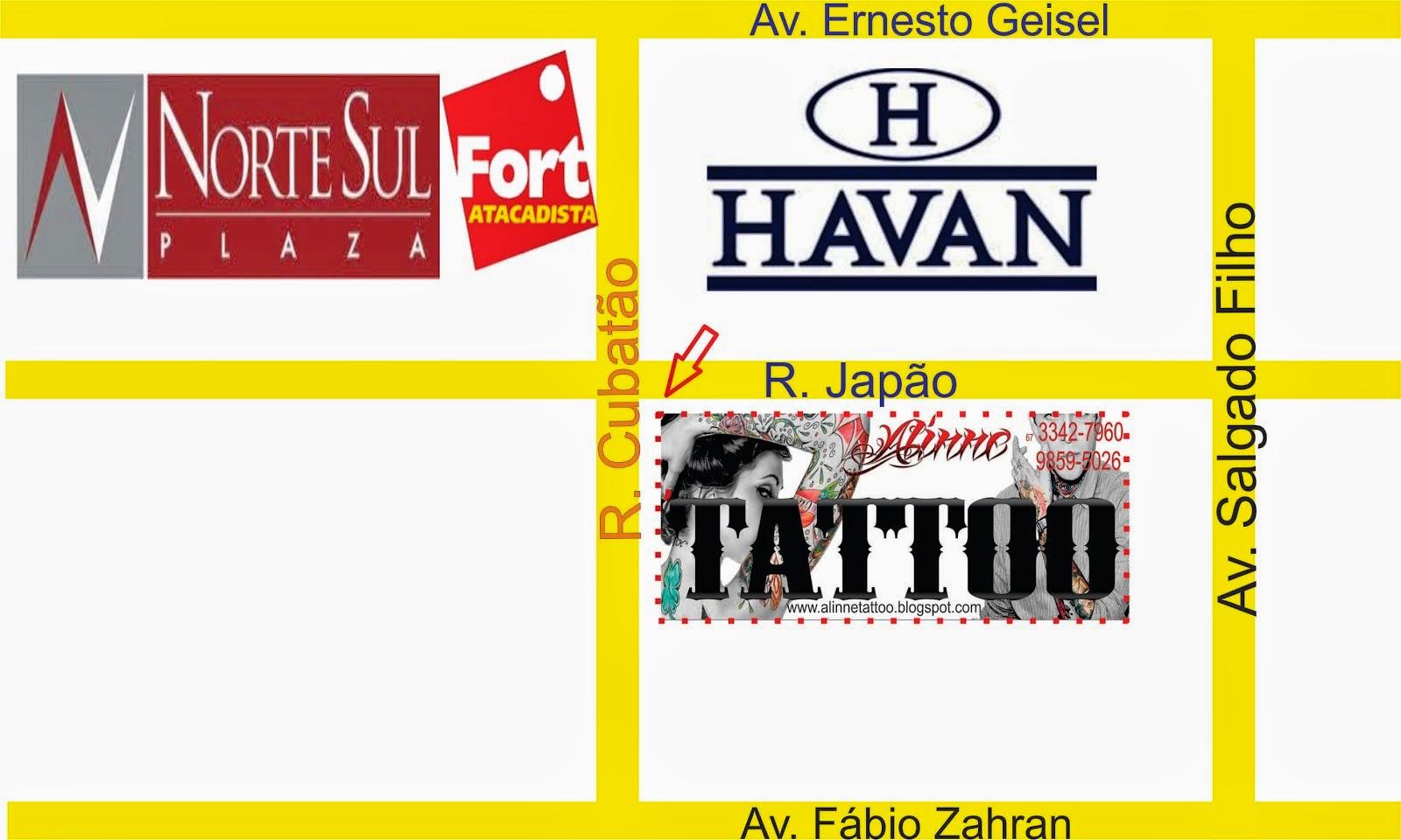 Mapa Aline Tattoo Studo