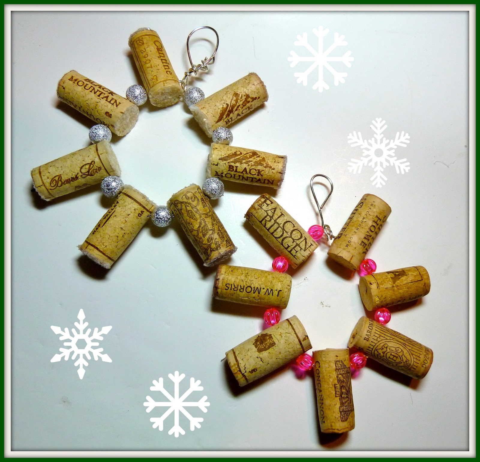 Christmas decorations using paper plates - Make It Easy Crafts Wine Cork Snowflake Ornament