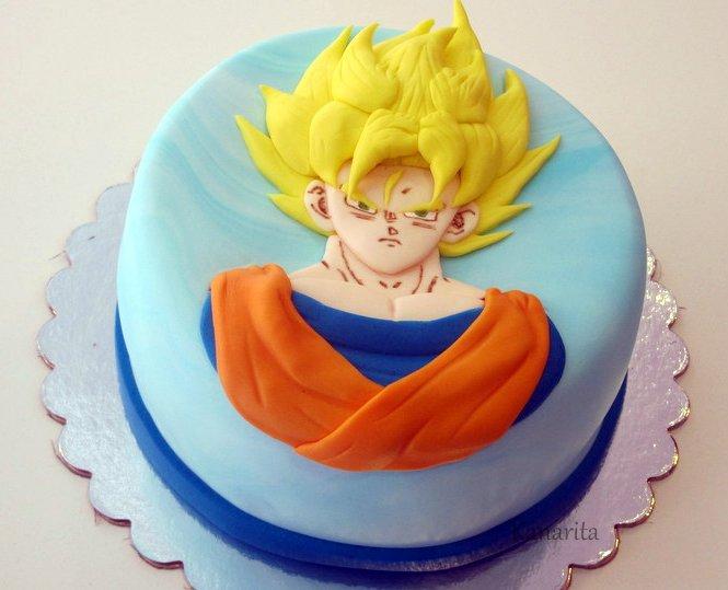 Los dulces de Kanarita: Pastel Son goku IV