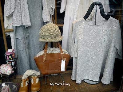 An apparel shop in Naramachi street - Japan