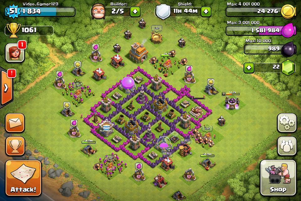 Best farming setup clash of clans level 7 — photo 1