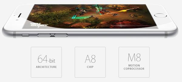 iPhone 6 has M8 coprocessor and 64-bit A8 dual-core processor