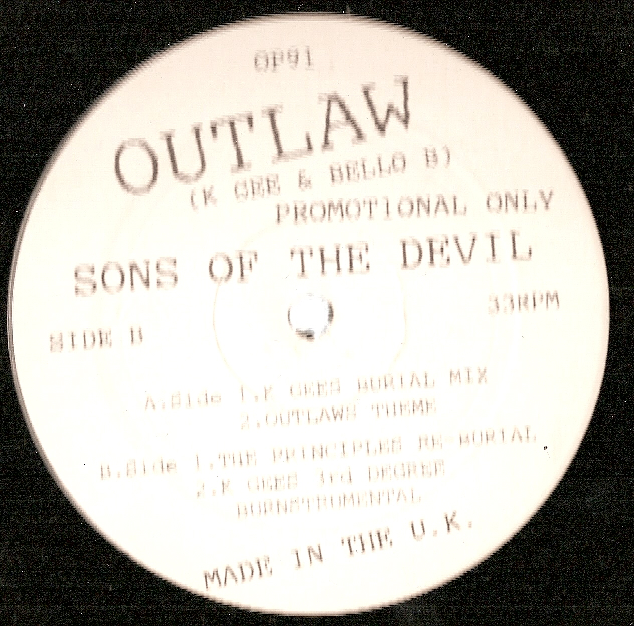 Outlaw – Sons Of The Devil – VLS – 199x (VBR)