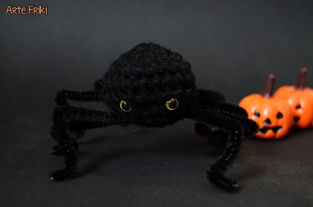 halloween araña amigurumi spider free pattern patron gratis crochet ganchillo