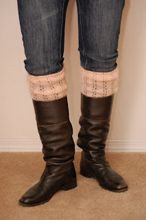 wearing DIY leg warmers
