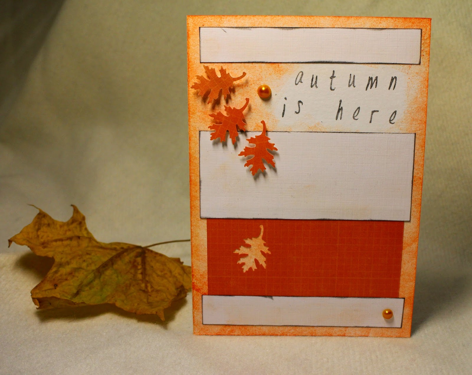 CAS autumn leaf scrapbooking