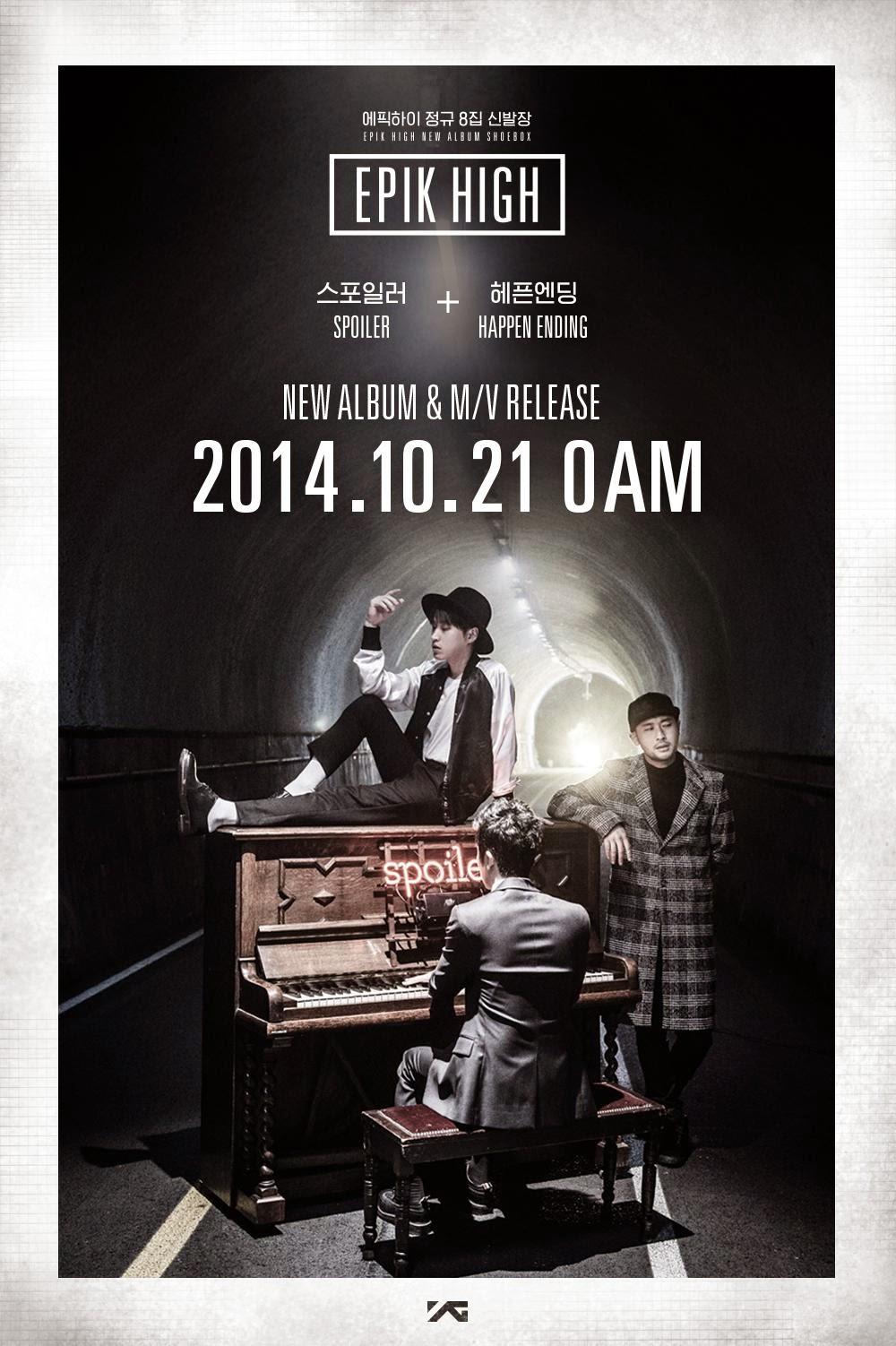 EPIK HIGH to release MVs for 'Spoiler' & 'Happen Ending' ft. Kim Ji Soo