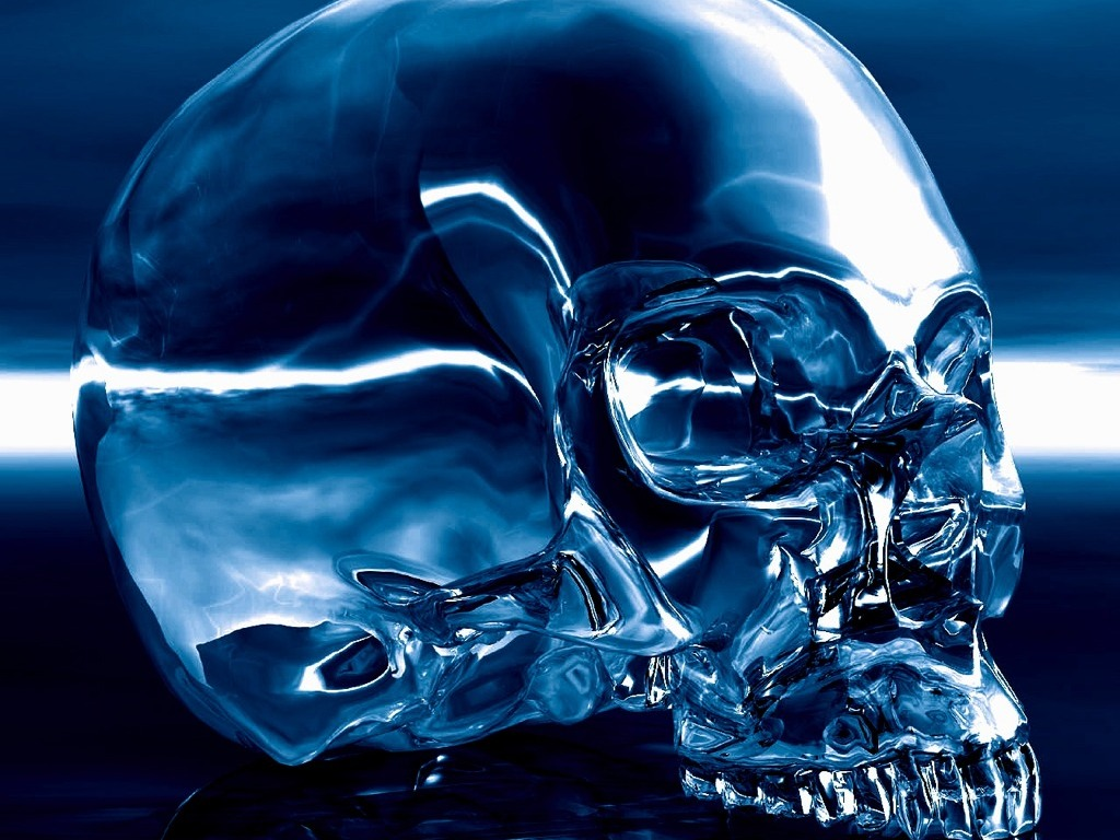 blue wallpaper skull - photo #22