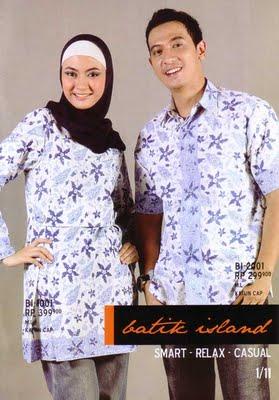 Model Busana Baju Batik Muslim Muslimah Modern Terbaru