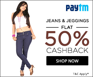 PayTM : Buy Lee, Levi`s and VAnHusan Ladies Jeans upto 50% cashback