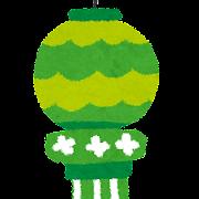 七夕のイラスト「七夕飾り・緑」