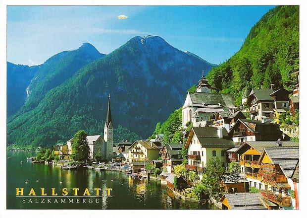 postcards wall hallstatt-dachstein