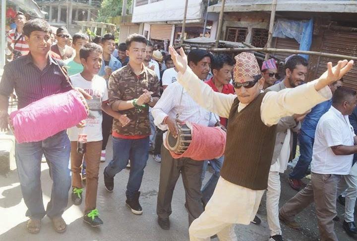 Phulpati or Fulpati celebration 2014 in Mungpoo  - 5