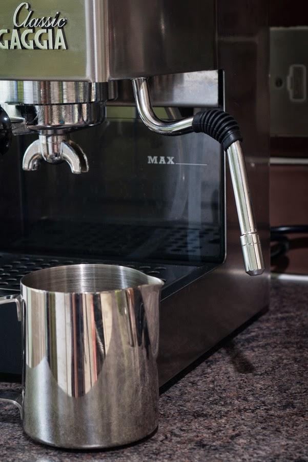 Pressing the cappuccino soltazza espresso coffee machine water