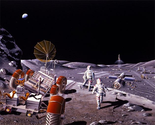La Agencia Espacial  Europea propone fundar una aldea en La Luna.